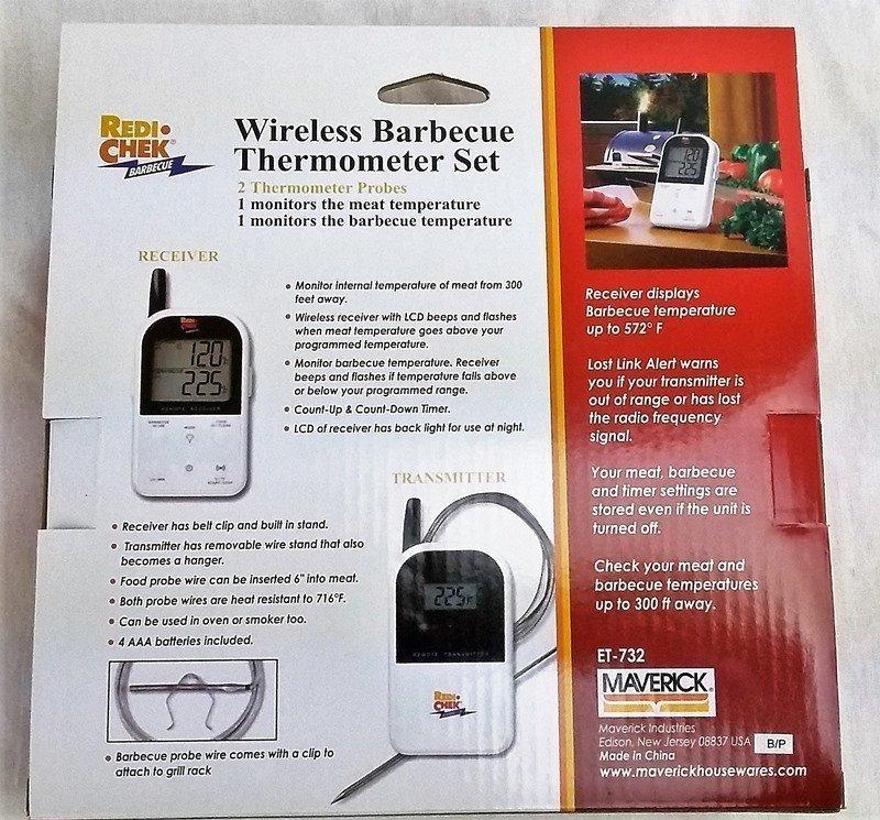 Wireless Digital Barbecue Thermometer Maverick Et 732 4thegrill