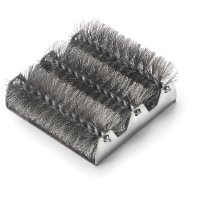 Spiral bristle grill brush replacement head