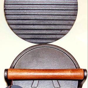 Cast iron grill press round