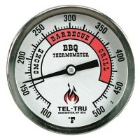 tel-tru barbecue thermometer plain dial color zones face