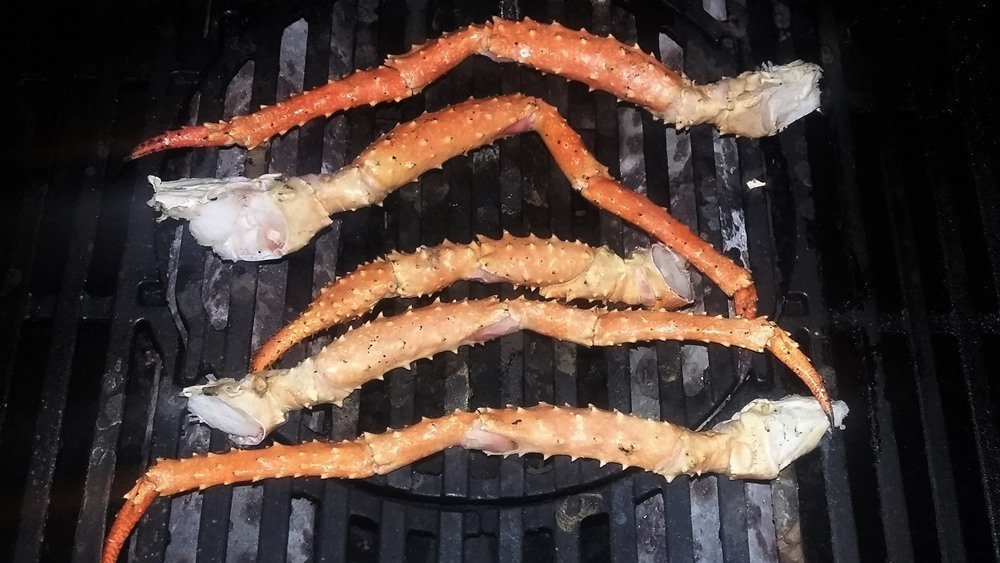 finished grilled King Crab Legs