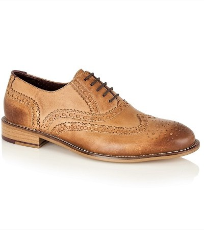 light brown brogues