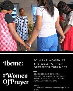 """Hey sisters, its @frances_okoro here So I have awesome news for our sisters who have been asking about """"The Women At The Well"""" next meet. It's here! And an amazing twist is that we will be having two meets! One at Lagos and One In Ekiti State, Ado-Ekiti to be precise. The meet in Ado-Ekiti will hold on Saturday November 19th. Theme: On Purpose: #SeasonsOfPreparation. Another twist is that we are only taking 12 Ladies and there is no bias in choosing these ladies, its going to be on first come basis. I really didn't think we were going to have this Ekiti Meet but oh, the tug has been so deep, I am praying all God has for us shall come to manifestation. I know we will have an amazing time together. Now our Lagos meet will hold on Saturday December 3rd 2016. Venue: The Oasis, 3 Keystone Bank Crescent Off Adeyemo Alakija Street Lagos. And I am soooo revved up. Theme: #WomenOfPrayer. I have been feeling such a pull for women to get into prayer, TWTW Team has been praying for an outpouring of the Spirit in ways we cannot physically understand. If you have been feeling low in your spiritual life lately, by all means please join us. It would be such a refreshing time in the Spirit and there is no number limit to this, come one, come all. I want to meet you all sisters. We still birthing women filled with Jesus in """"The Women At The Well"""". I hope that you will be one of us. Please, if you want to join up on either of the two meets, mail 4thewomenatthewell@gmail.com We need numbers so we can plan better. So do us that email, and especially my Ado-Ekiti Ladies , please mail ASAP. #thewomenatthewell Feel free to tag a sister in need of some Christian ladies fellowship :-) #ladiesgroup #christianladiesgroupinlagos #adoekitiladiesmeet"""