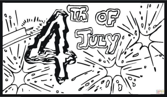 4th of July Bang Coloring Pages