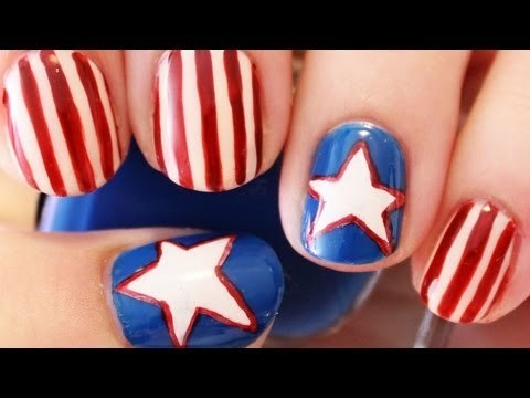 Happy 4th of July toe nail designs
