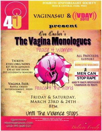 Vagina Monologues Poster 2012