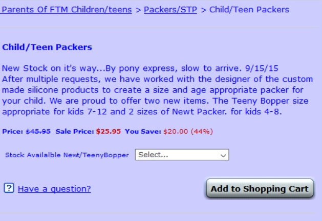 """San Francisco company selling """"packers"""" for trans boys, ages 4 and up    4thWaveNow 58511f20af"""