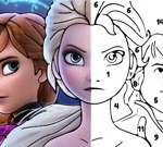Color By Number With Frozen II