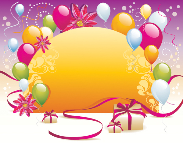 Balloon Gift Card Background Vector Free Vector 4Vector