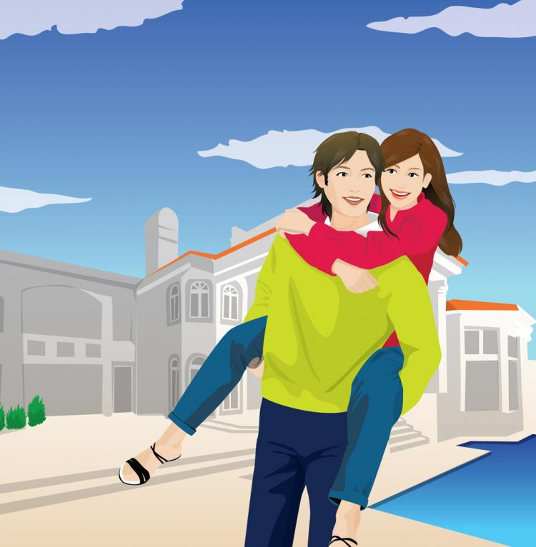 Download Big Love, Happy Couple (28002) Free AI, EPS, SVG Download ...