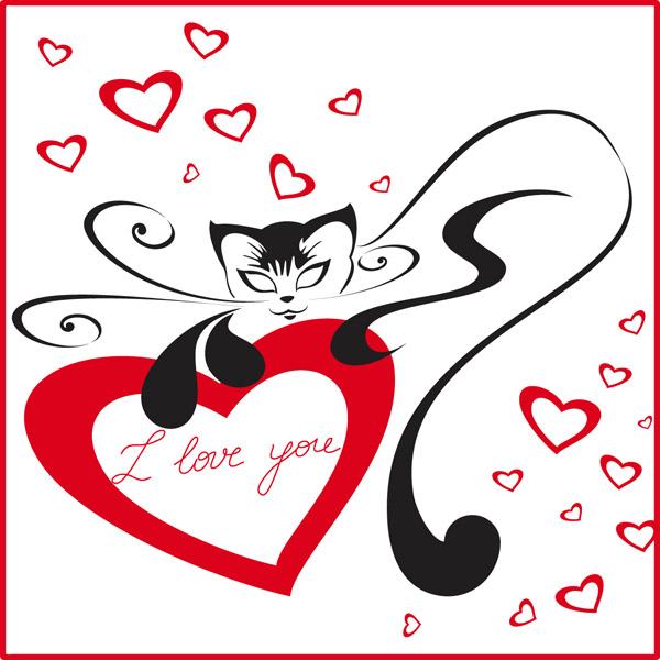 Download Cat love (25668) Free EPS Download / 4 Vector
