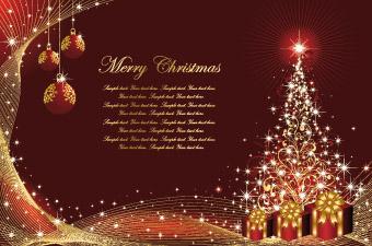 Christmas Card Background Vector Free Vector 4Vector