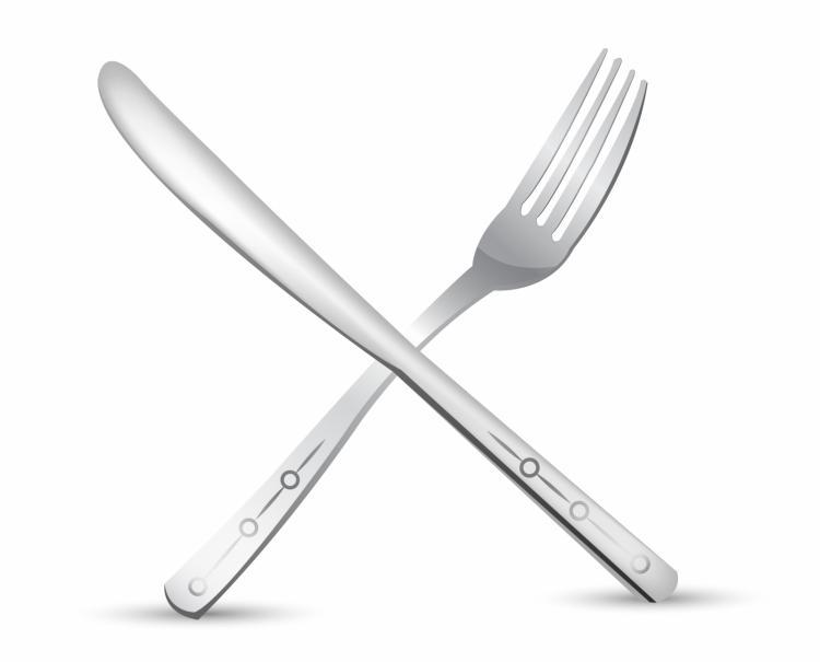 Kitchen Knives Clip Art Shadow