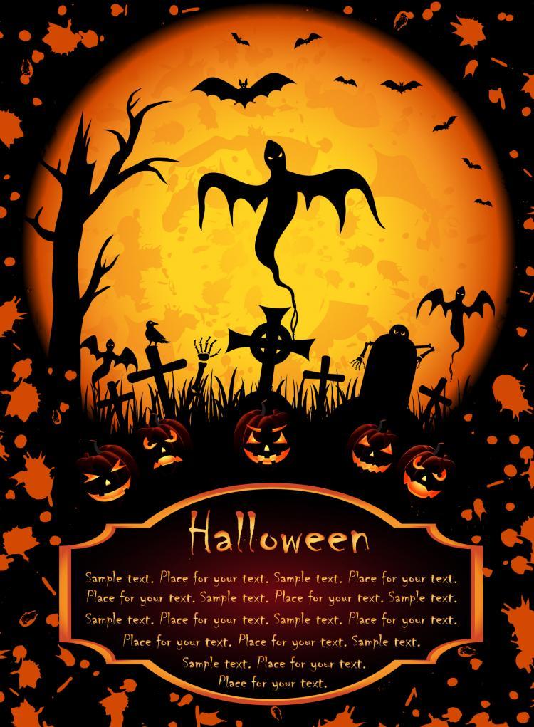 Halloween Posters Element Vector Free Vector 4Vector
