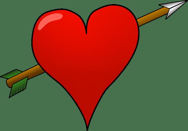 Download Heart-arrow clip art (120091) Free SVG Download / 4 Vector
