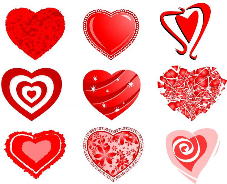 Download Hearts (25496) Free AI Download / 4 Vector