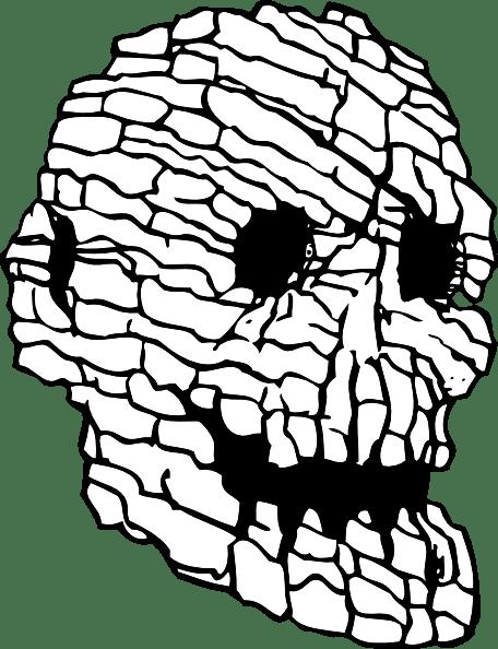 Rock Skull Clip Art 108736 Free Svg Download 4vector