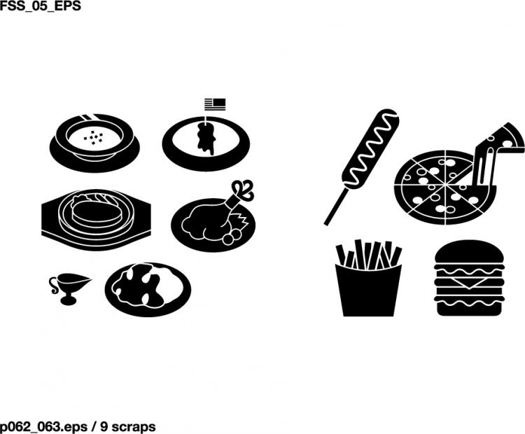 Various Elements Of Silhouette Food Category Elements 26888 Free Eps Download 4 Vector