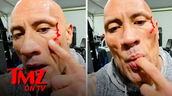 The Rock Tastes His Own Blood After Gym Injury, Gets Stitches to Close Gash   TMZ TV