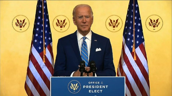 Biden's unity appeal in Thanksgiving-eve address