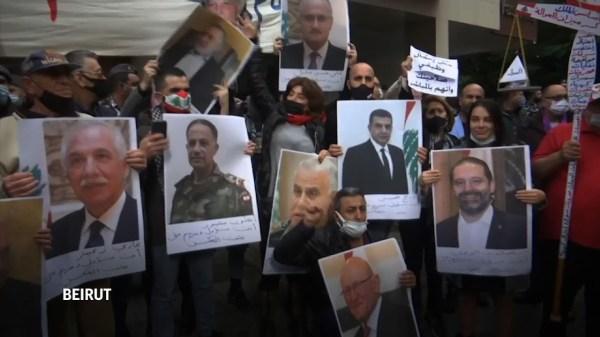 Manifestantes exigen transparencia en la investigación de la explosión en el Puerto de Beirut