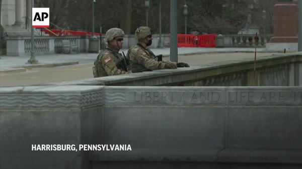 National Guard out in force to protect Pa. Capitol