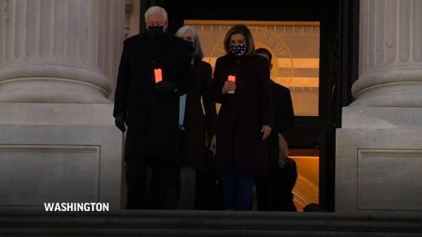 Speaker Pelosi marks 400K COVID deaths at Capitol