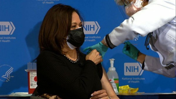 Kamala Harris receives 2nd COVID-19 vaccine dose