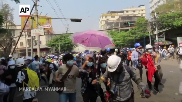 Police break up protests as Myanmar crisis heightens