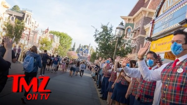 Disneyland Guests Cry as Park Reopens After Yearlong Closure | TMZ TV