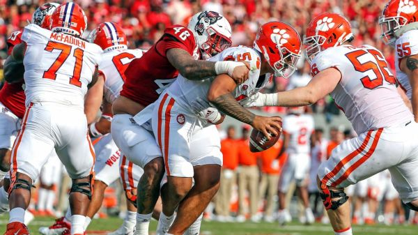 Clemson's offense struggles again as Tigers fall to 2-2 after double-OT loss to NC State