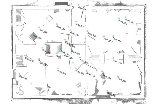 plattegrond laserscanning