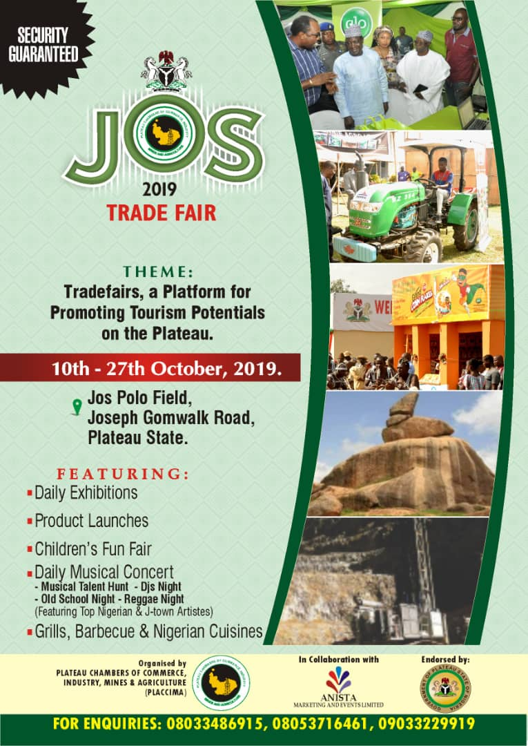 IMG 20190823 WA0037 - Jos Trade Fair: LG official wants investors in agric sector