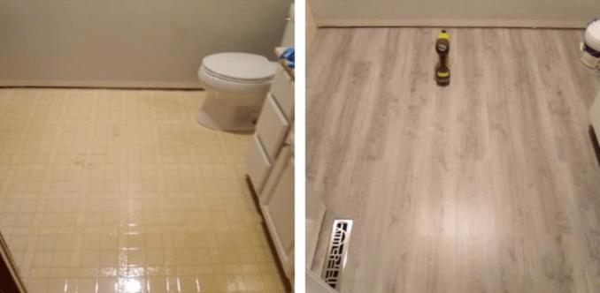 Bathroom Flooring Replacement