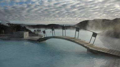 Bridge over Iceland's Blue Lagoon