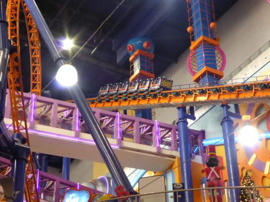 Roller coaster in Berjaya Times Square Mall