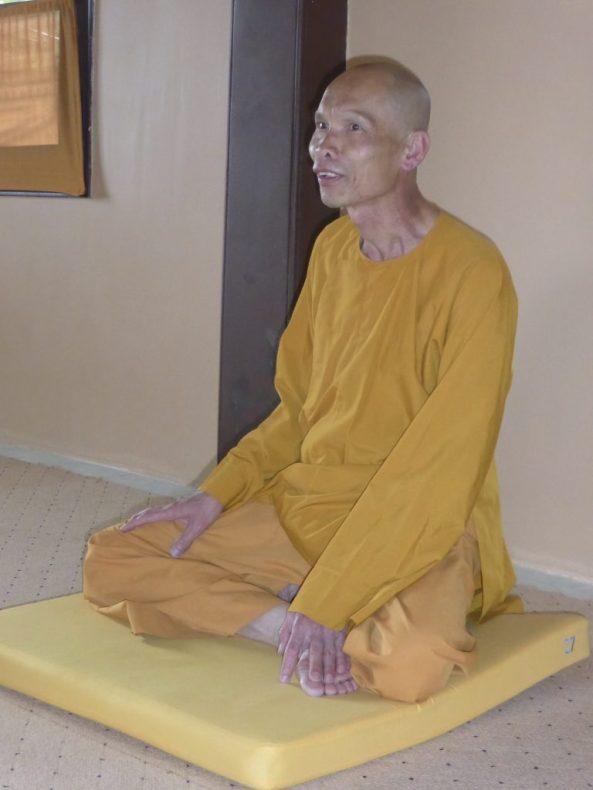 Buddhist monk at Truc Lam Monastery Da Lat Vietnam