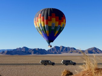 Hot air balloon Sossusvlei Namibia