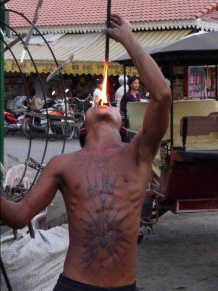 Siem Reap Fire Eater