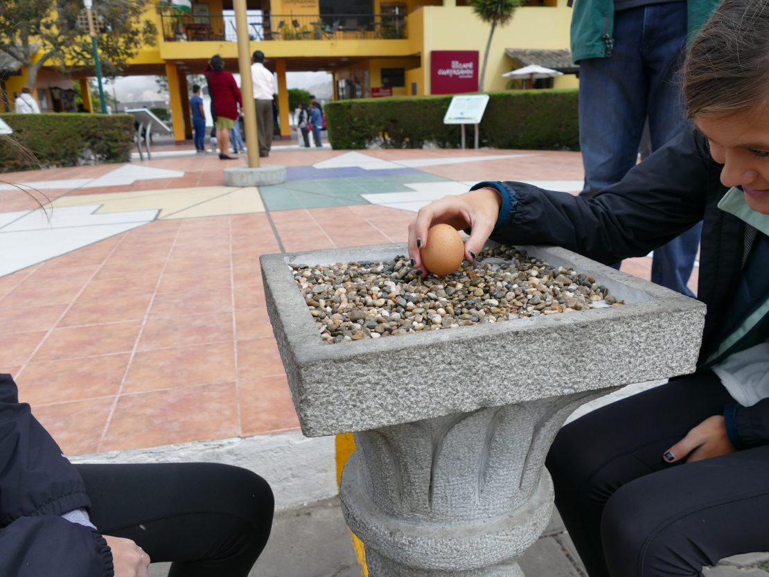 Egg balance at the Equator