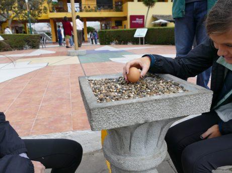 Egg balance at the Equator