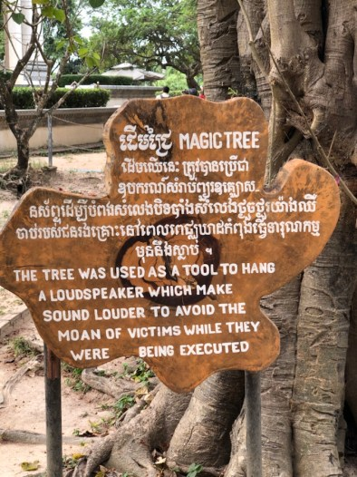 A loudspeaker blared a national anthem while the Khmer Rouge tortured and executed fellow Cambodians. The music was to muffle the screams of the victims.