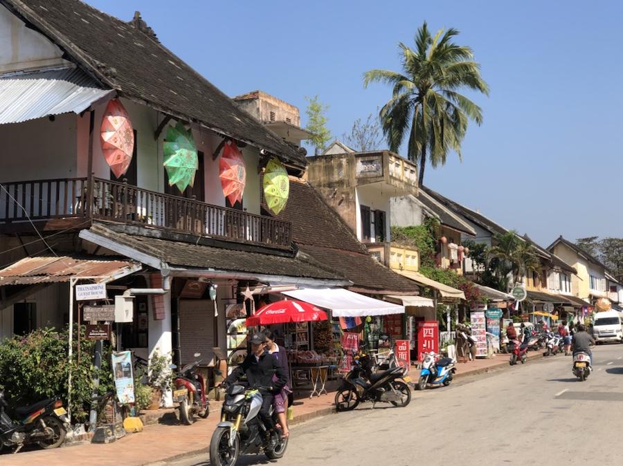 Street view of Old Quarter Luang Prabang