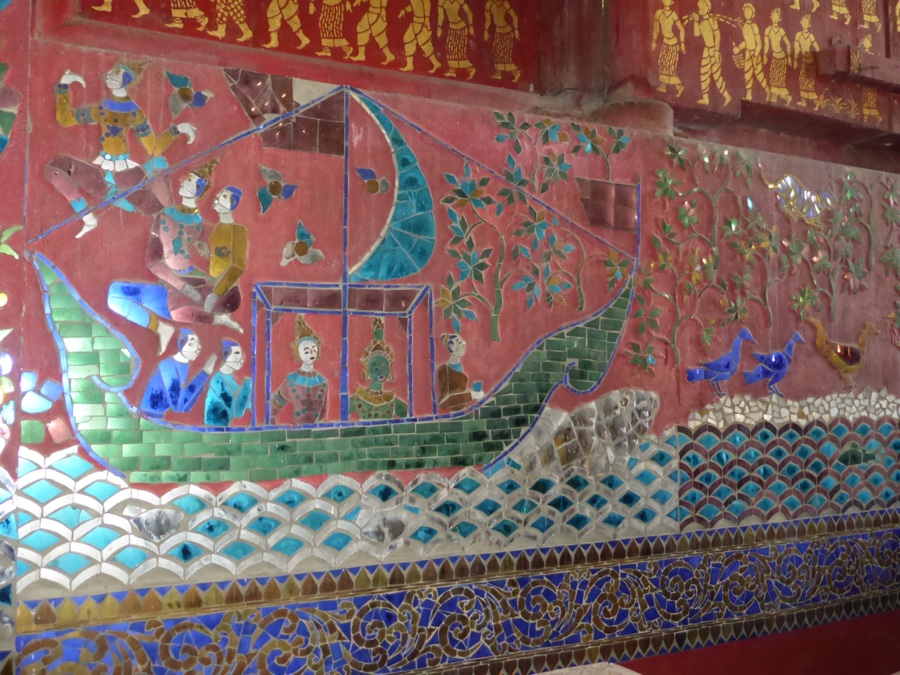Mural inside Wat Xieng Thong