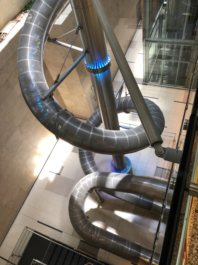 4-story indoor slide at Singapore's Changi Airport