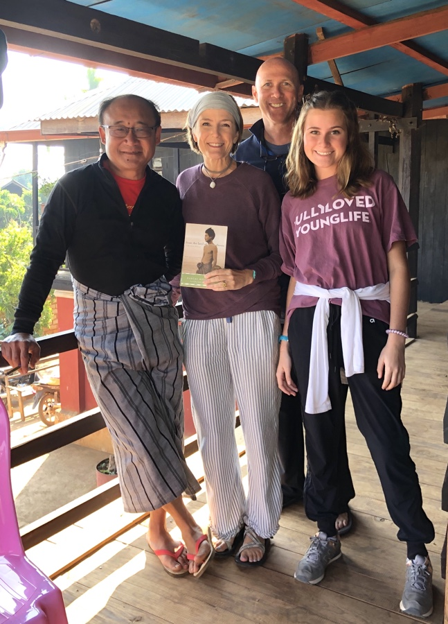 Visiting with the author Pascal Khoo Thwe at this home in Myanmar.