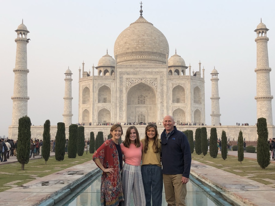 Taj Mahal India family travel