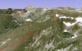 U prvom planu je dokle smo stigli, Salakova jezera su desno, Solunska glava u pozadini