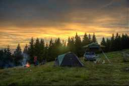 Camping on the Bihor ridge