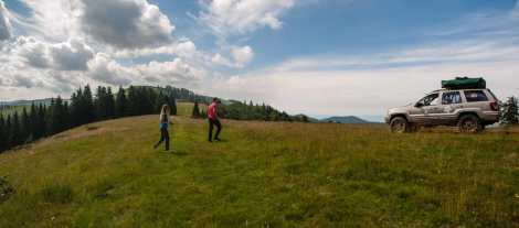 Scenic views along the Bihor ridge